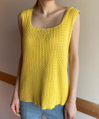 "【Used】""Ralph Lauren"" Cotton knit sleeveless tops / ラルフローレンノースリーブトップス"