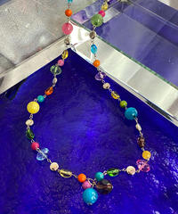 【Used】Rainbow beads necklace / カラフルビーズネックレス