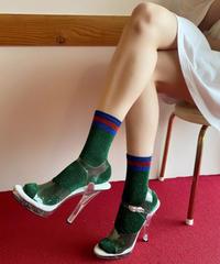 【Selected item】Line glitter socks / ライン入りグリッターソックス / mg480