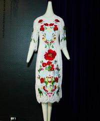 【Selected item】お花刺繍レースドレス/white