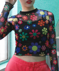 【migration】See-through flower tops / mg-231 / シースルー花柄トップス