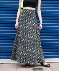 【Vintage】1980's DECKED OUT Geometric print long skirt / ジオメトリックプリントロングスカート