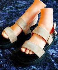 【Selected item】Strap Sandal / beige / mg15