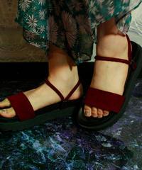 【Selected item】2way Sandal / Bordeaux