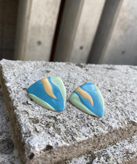 【Used】Pastel color triangle / パステルカラー三角ピアス