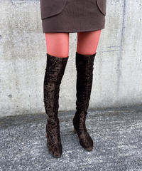 "【Used】""CHARLES JOURDAN"" Velours knee high boots / ニーハイベロアロングブーツ"