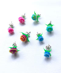 【selected Item】Mini rose silver pierce /ミニ ローズシルバーピアス