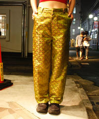 【Selected item】China green straight pants / ストレートチャイナパンツ / mg340