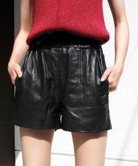 【migration】Leather short pants/レザーショートパンツ/mg167