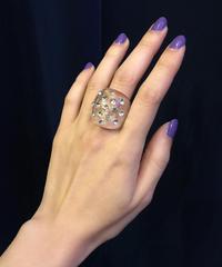 【Used】Rhinestone Acryl ring / ラインストーンアクリルリング