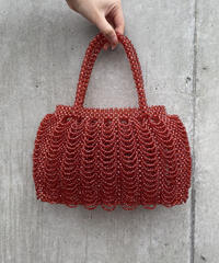 【Used】Beads wicker bag / ビーズ編みバッグ