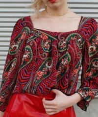 【Used】ANNA SUI Ethnic silk  tops / エスニックシルクトップス