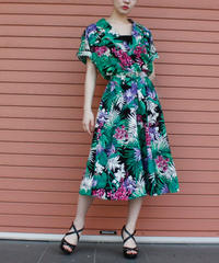 【Vintage】1980's botanical patten one piece / ボタニカル柄ワンピース