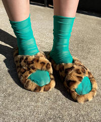 【Selected item】Fake fur sandal / フェイクヒョウ柄ファーサンダル / mg411