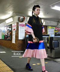 【migration】Pleat design shirt one piece / シャツワンピース / mg354