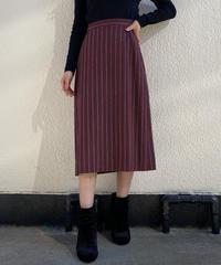 【Vintage】Striped midi skirt  / ストライプミディスカート