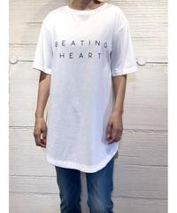 [BEATING HEART]ラウンドヘムロゴTシャツ【ホワイト】
