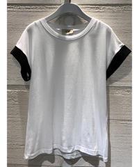 バイカラーTシャツ【ホワイト】