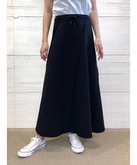 [COOLA]ステッチパターンロングスカート【ブラック】