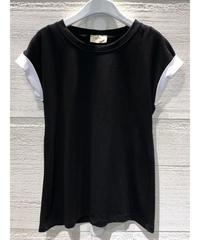 バイカラーTシャツ【ブラック】