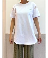 [Lallia Mu]シアースリーブTシャツ【ホワイト】