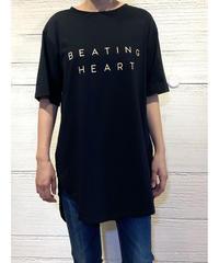 [BEATING HEART]ラウンドヘムロゴTシャツ【ブラック】