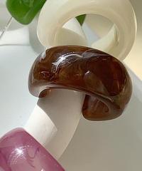ピス ピアス/Brown Marble