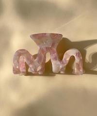 ヒュギ ヘアクリップ/Pink Marble