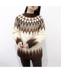 brown Nordic sweater
