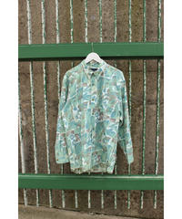 green paint pattern shirt