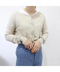 beige simple cardigan