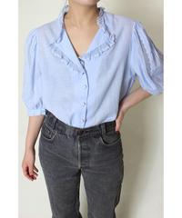 EUR vintage ice blue  blouse