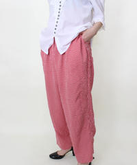 gingham check easy pants