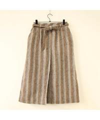 ベルト付 wool skirt