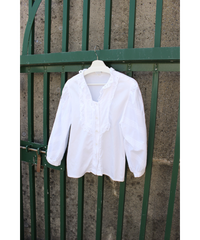 front frill balloon sleeve folklore blouse