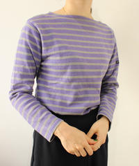 【SAINT JAMES】Basqueshirt purple×gray