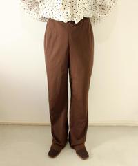brown rib stretch pants