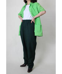 green polyester pants