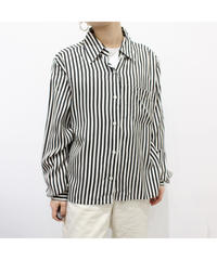 stripe box silhouette shirt
