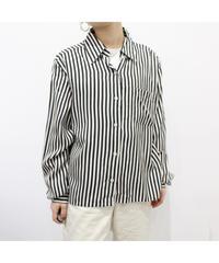 stripe box silhouette shirt