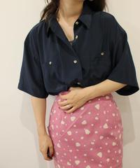 polyester navy shirt