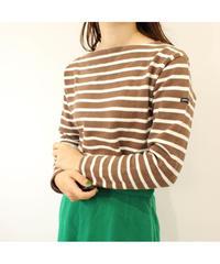 【saintjames】brown ×white Basqueshirt
