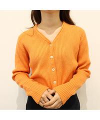 orange rib knit