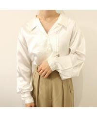 open collar silky shirt