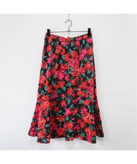 flower print mermaid skirt