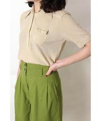 poly cotton beige polo shirt