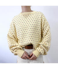 made in USA Spring color cotton sweater