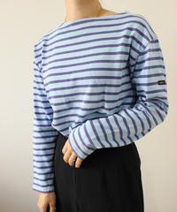 【SAINT JAMES】Basqueshirt blue×purple