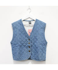 made in USA quilting denim vest