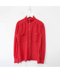 pearl red blouse